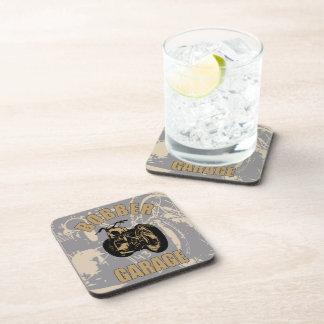 Bobber Garage Beverage Coasters