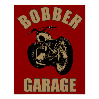 Bobber Garage Poster