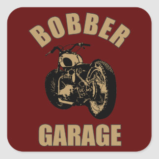 Bobber Garage Sticker