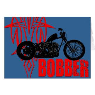 Bobber Motorbike Greeting Card
