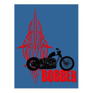 Bobber Motorbike Post Card