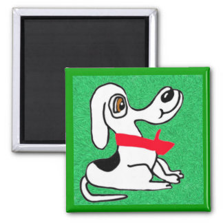 Bobbers On The Lawn 2 Inch Square Magnet