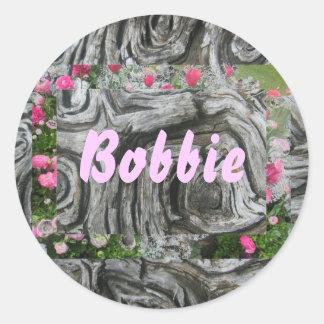 Bobbie Round Sticker