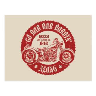 Bobbin adelante tarjetas postales