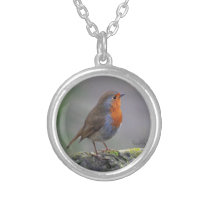Bobbin the robin silver plated necklace