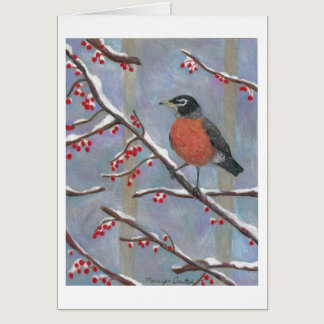 Bobbing Along: Robin by Artist Marcy Deutsch Card