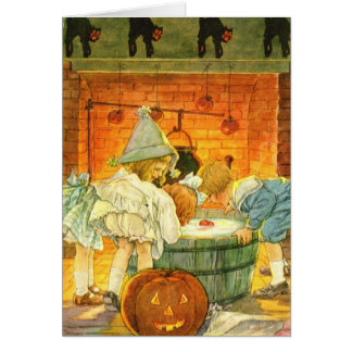 Bobbing for Apples Halloween Greeting Card