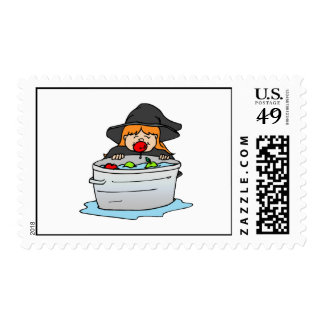 Bobbing for apples postage stamps