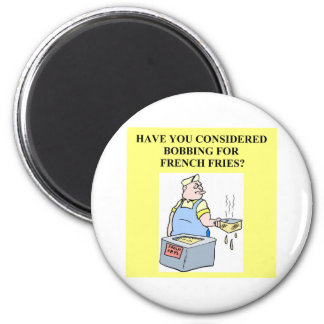 bobbing for french fries 2 inch round magnet