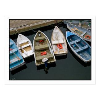 Bobbing Row Boats Postcard