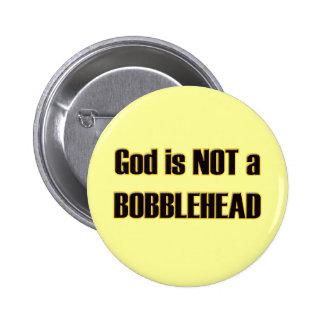 Bobblehead God Pinback Buttons