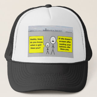 Bobby and Daddy - romantic advice Trucker Hat