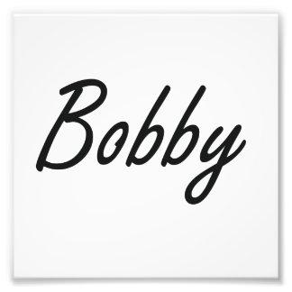 Bobby Artistic Name Design Photo Print