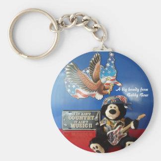 Bobby Bear keychain Llavero Redondo Tipo Pin