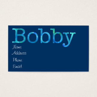Bobby Business Card