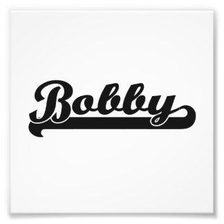 Bobby Classic Retro Name Design Photo Print