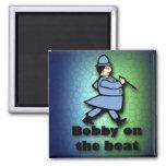 Bobby en el golpe imanes de nevera