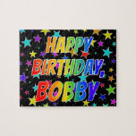 "[ Thumbnail: ""Bobby"" First Name, Fun ""Happy Birthday"" Jigsaw Puzzle ]"