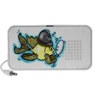 BOBBY FISH funny british policeman fish iPod Speaker