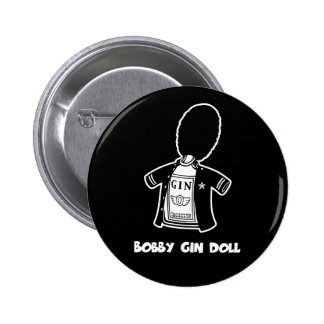 Bobby Gin Doll Pinback Buttons