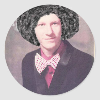 bobby gourley afro classic round sticker