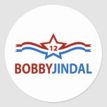 Bobby Jindal 12 Round Stickers