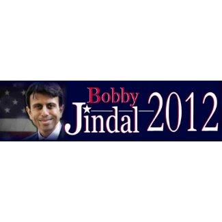 Bobby Jindal 2012 bumper sticker bumpersticker