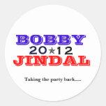 Bobby Jindal 2012 Etiqueta Redonda