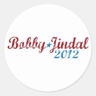Bobby Jindal 2012 Pegatina Redonda