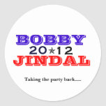 Bobby Jindal 2012 Round Stickers