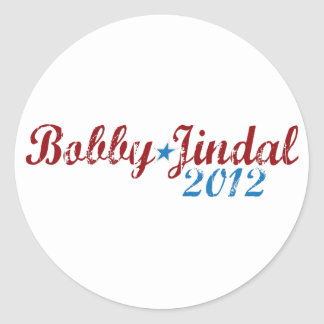 Bobby Jindal 2012 Round Sticker