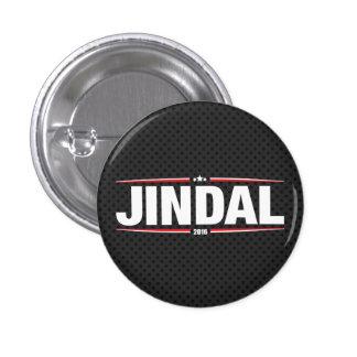 Bobby Jindal 2016 (estrellas y rayas - negro) Pin