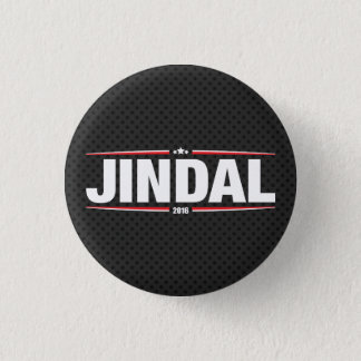 Bobby Jindal 2016 (Stars & Stripes - Black) Button