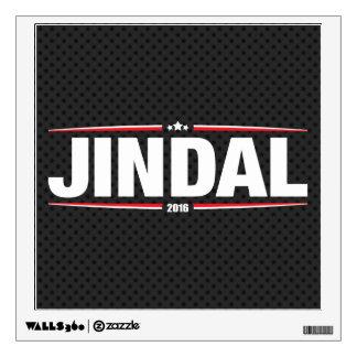 Bobby Jindal 2016 (Stars & Stripes - Black) Wall Sticker