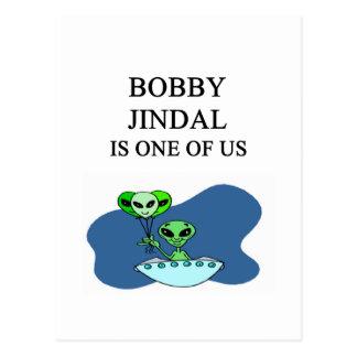 bobby jindal, alien postcard