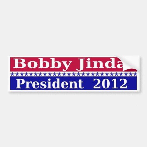 Bobby Jindal for President 2012 Bumper Sticker Car Bumper Sticker