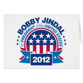 Bobby Jindal for President 2012 Card