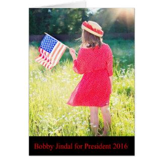 Bobby Jindal for President 2016 Card