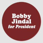 BOBBY JINDAL FOR PRESIDENT 2 STICKERS