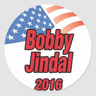 Bobby Jindal for president in 2015 Classic Round Sticker