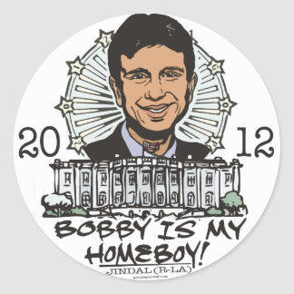 Bobby Jindal is My Homeboy 2012 Gear Classic Round Sticker