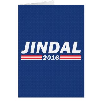 Bobby Jindal, Jindal 2016 Card