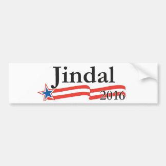 Bobby Jindal para el presidente 2016 Etiqueta De Parachoque