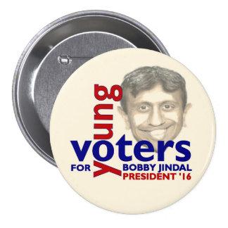 Bobby Jindal para el presidente 2016 Pin Redondo De 3 Pulgadas
