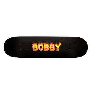 Bobby skateboard fire and flames design.
