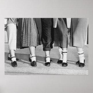 Bobby Socks, 1953. Foto del vintage Póster