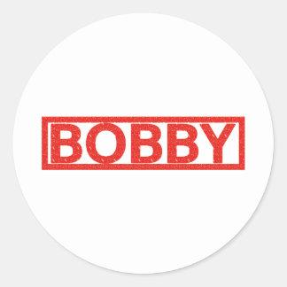 Bobby Stamp Round Sticker