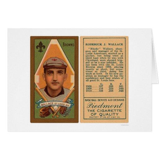 Bobby Wallace broncea el béisbol 1911 Tarjeta De Felicitación