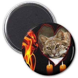 bobcat-00156 2 inch round magnet