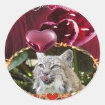 bobcat-00164 classic round sticker